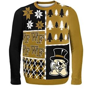Wake Forest Demon Deacons Busy Block Sweater NWT L